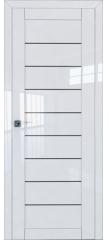Межкомнатная дверь 73L белый люкс стекло графит