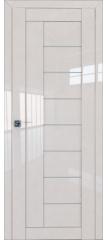 Межкомнатная дверь 17L магнолия люкс стекло графит