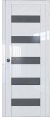 Межкомнатная дверь 29L белый люкс стекло графит
