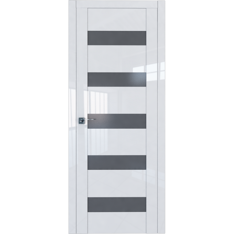 Межкомнатная дверь L 29 белый люкс стекло графит