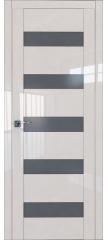 Межкомнатная дверь 29L магнолия люкс стекло графит