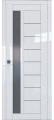 Межкомнатная дверь L 37 белый люкс стекло графит