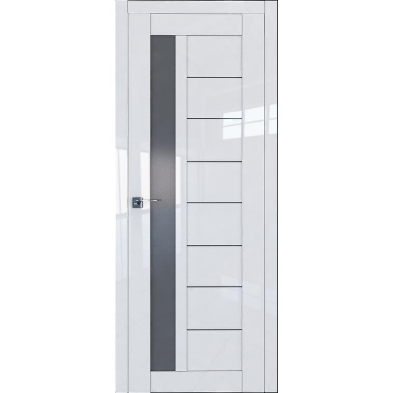 Межкомнатная дверь 37L белый люкс стекло графит