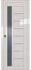 Межкомнатная дверь 37L магнолия люкс стекло графит