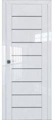 Межкомнатная дверь 45L белый люкс стекло графит