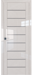 Межкомнатная дверь 45L магнолия люкс стекло графит