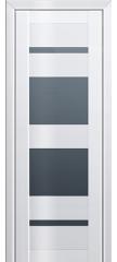 Межкомнатная дверь L 72 белый люкс стекло графит