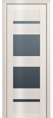 Межкомнатная дверь 72L магнолия люкс стекло графит