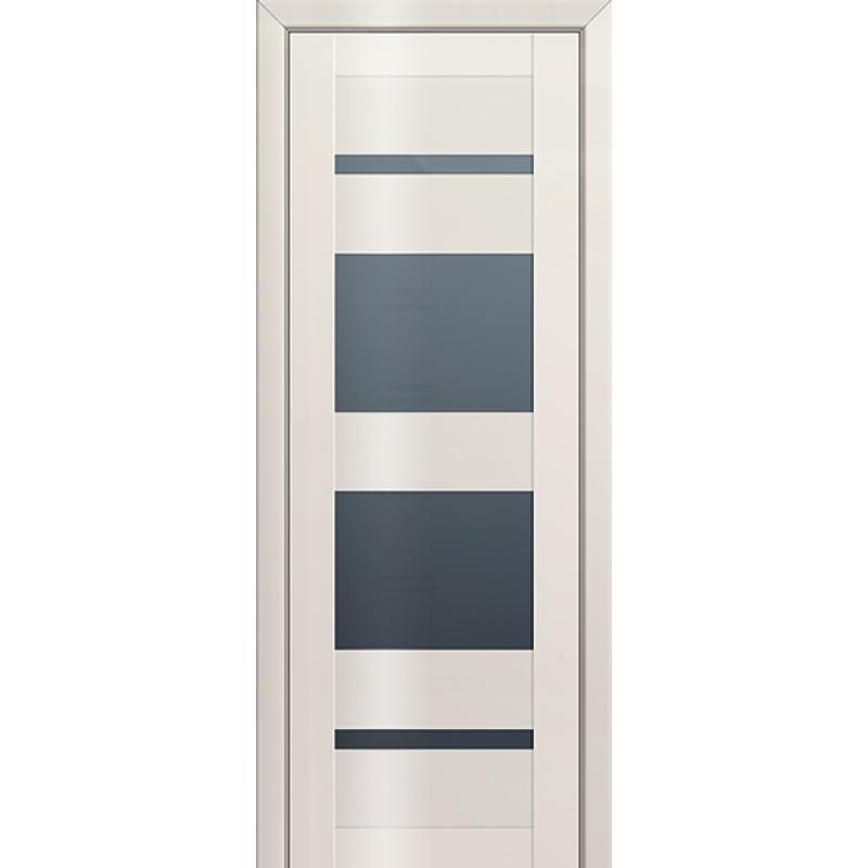 Межкомнатная дверь L 72 магнолия люкс стекло графит