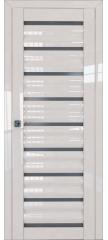 Межкомнатная дверь 76L магнолия люкс, стекло графит