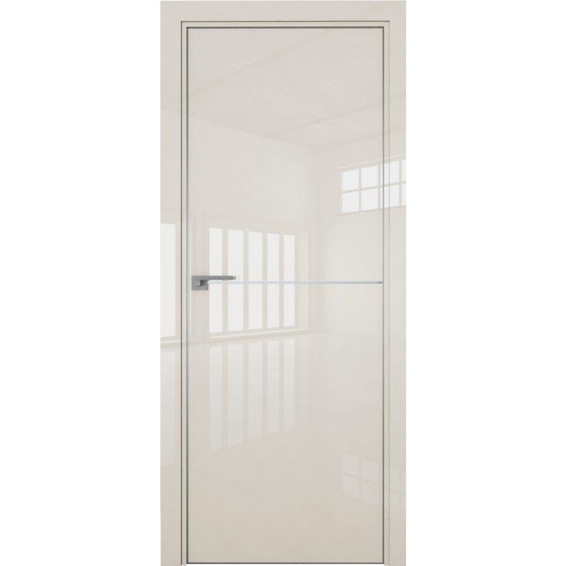 Межкомнатная дверь 12LK магнолия люкс, кромка матовая