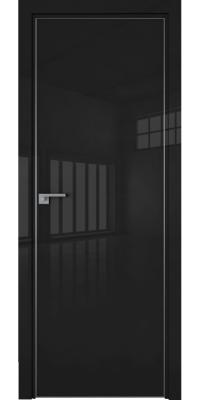 Межкомнатная дверь 1LK черный люкс, кромка ABS