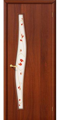 Межкомнатная дверь ВОЛНА итальянский орех ПОФ2