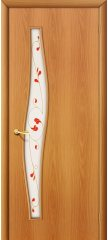 Межкомнатная дверь ВОЛНА миланский орех ПОФ2