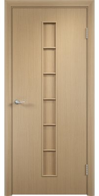 Межкомнатная дверь ЛЕСЕНКА беленый дуб ПГ