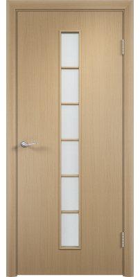 Межкомнатная дверь ЛЕСЕНКА беленый дуб ПО
