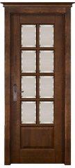 Межкомнатная дверь ЛОНДОН 2 античный орех, стекло матовое с фацетом