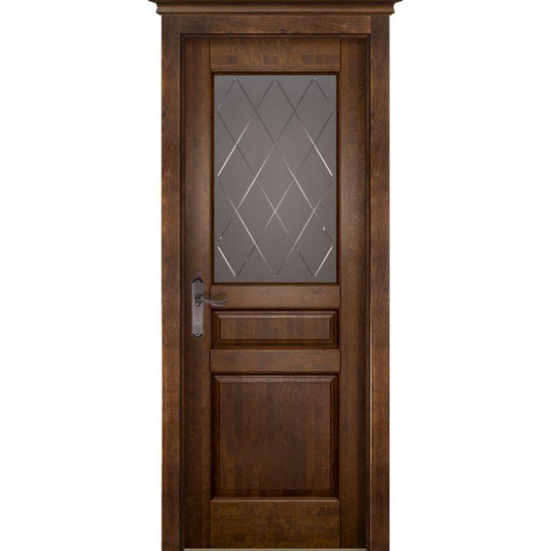 Межкомнатная дверь ВАЛЕНСИЯ античный орех ПО