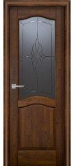 Межкомнатная дверь Лео античный орех ПО
