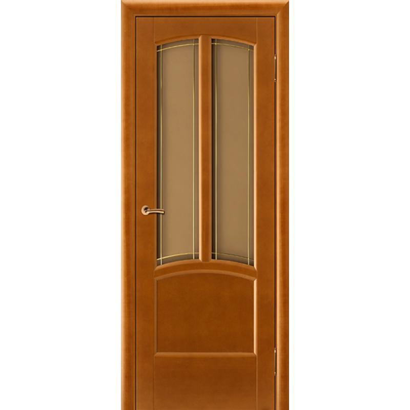 Межкомнатная дверь Виола медовый орех ПО