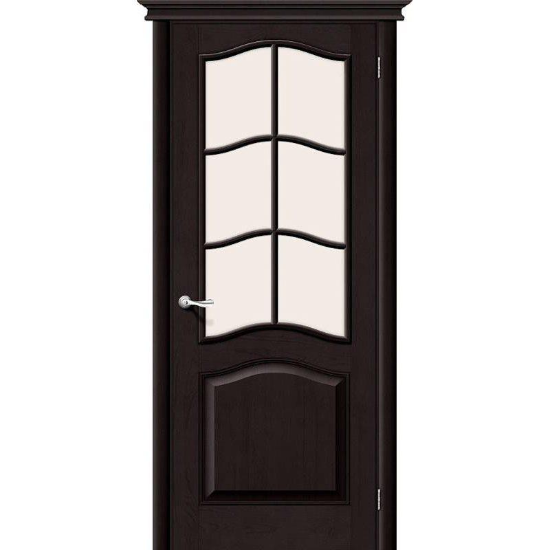 Межкомнатная дверь М7 темный лак ПО2