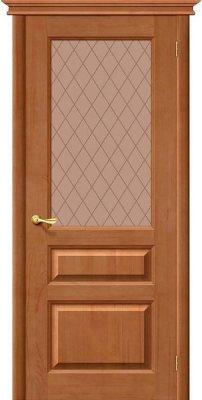 Межкомнатная дверь М5 светлый лак ПО