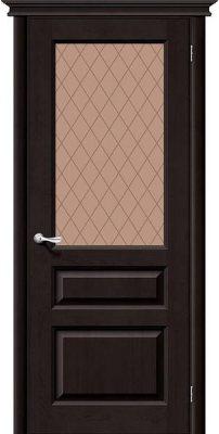Межкомнатная дверь М5 темный лак ПО
