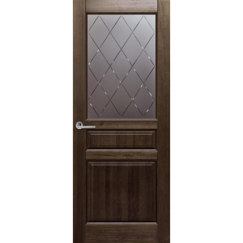 Межкомнатная дверь ВЕНЕЦИЯ тёмный орех ПО структурированное