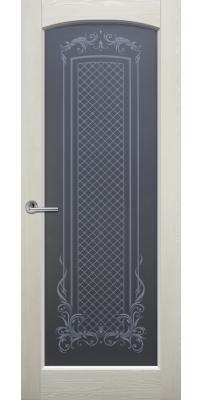 Межкомнатная дверь ВИТРАЖ слоновая кость ПО структурированное