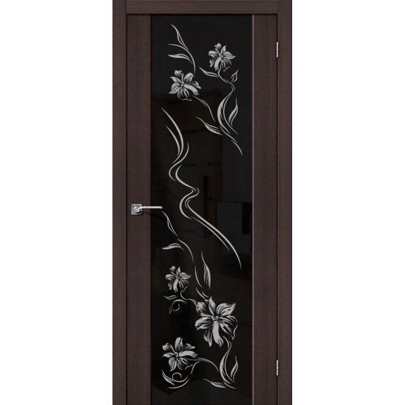 Межкомнатные двери - Межкомнатная дверь Soft S-13 Wenge Veralinga Print