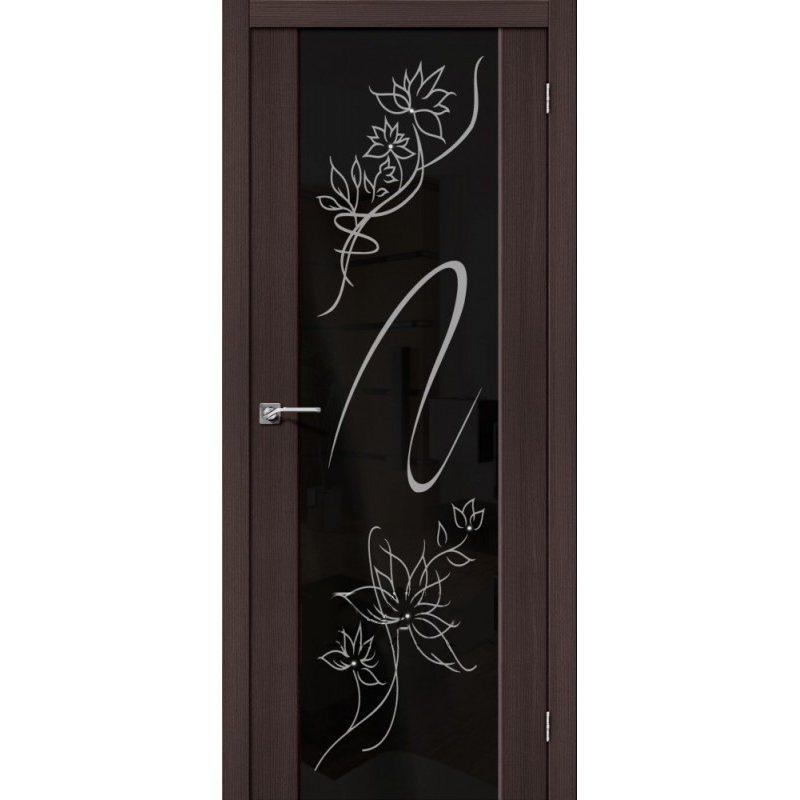 Межкомнатные двери - Межкомнатная дверь Soft S-13 Wenge Veralinga Stamp