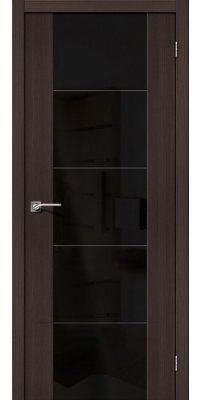 Межкомнатная дверь Vetro V4 wenge veralinga BS