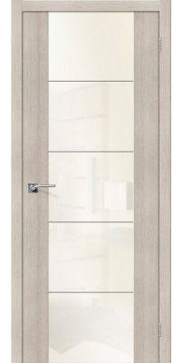 Межкомнатная дверь Vetro V4 cappuccino veralinga WP