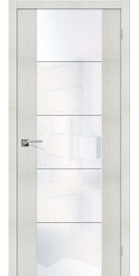 Межкомнатная дверь Vetro V4 bianco veralinga WW