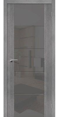 Межкомнатная дверь Vetro V4 grey veralinga S