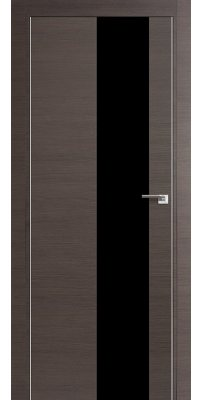Межкомнатная дверь Z5 грей кроскут/ черный лак