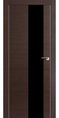 Межкомнатная дверь Z5 венге кроскут/ черный лак
