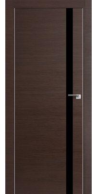 Межкомнатная дверь Z6 венге кроскут/ черное