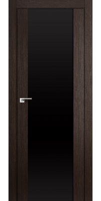 Межкомнатная дверь 8X венге мелинга /триплекс черный