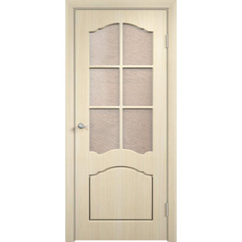 Межкомнатная дверь ЛИДИЯ беленый дуб ПО