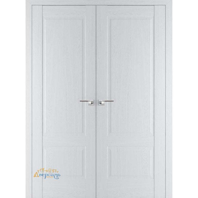 Двустворчатая дверь 100X пекан белый