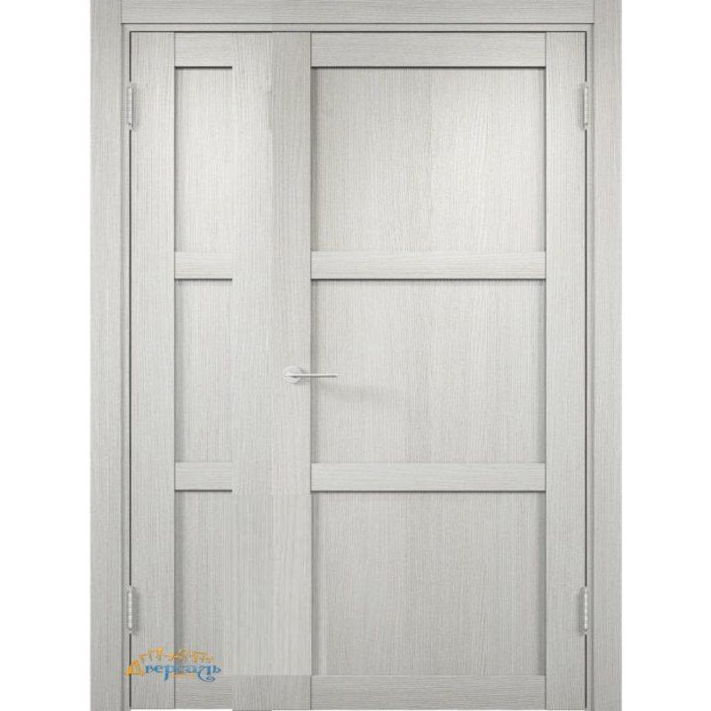 Неравнопольная дверь БАДЕН 01 слоновая кость ПГ