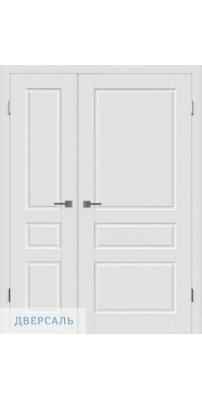 Неравнопольная дверь ЧЕСТЕР белая ПГ