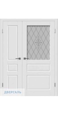 Неравнопольная дверь ЧЕСТЕР белая ПО