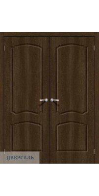 Двустворчатая дверь Альфа-1 dark barnwood