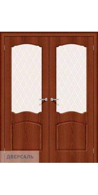 Двустворчатая дверь Альфа-2 italiano vero/white crystal
