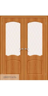 Двустворчатая дверь Альфа-2 milano vero/white crystal