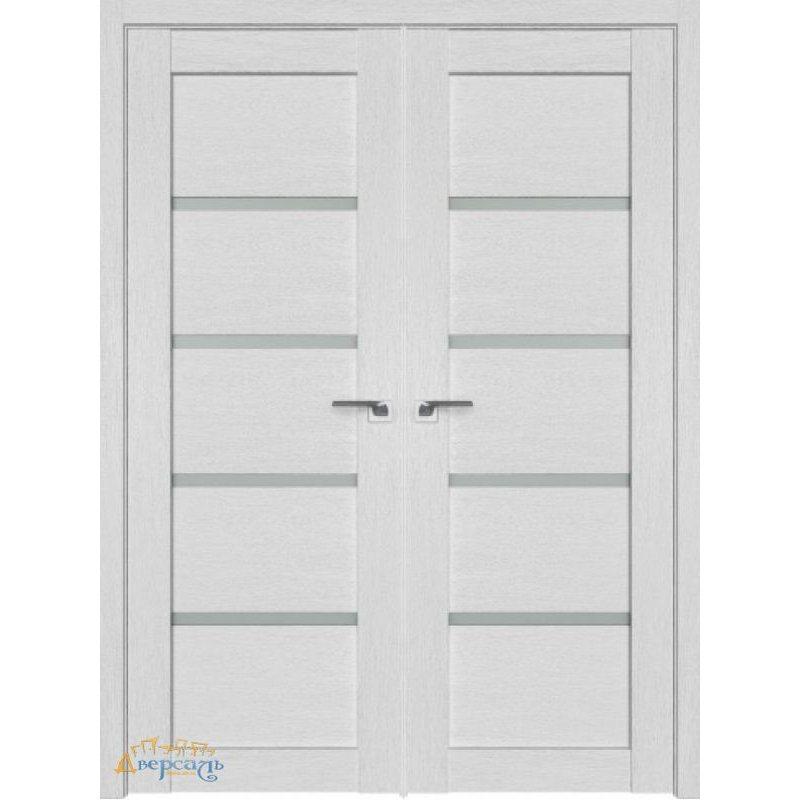 Двустворчатая дверь 2.09XN монблан, стекло матовое