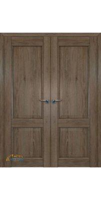 Двустворчатая дверь 2.41XN солинас темный, глухая