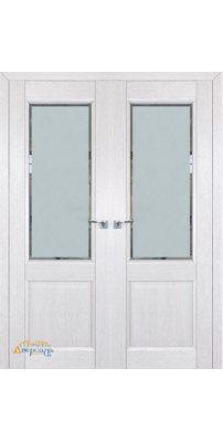 Двустворчатая дверь 2.42XN монблан, стекло square матовое